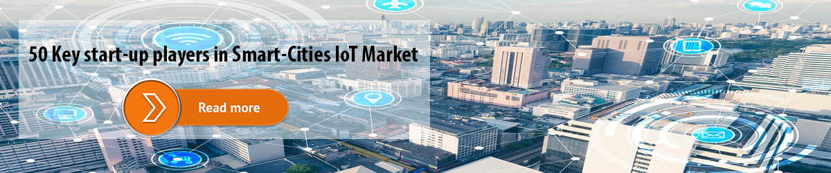 50 Key start-up players in Smart-Cities IoT Market