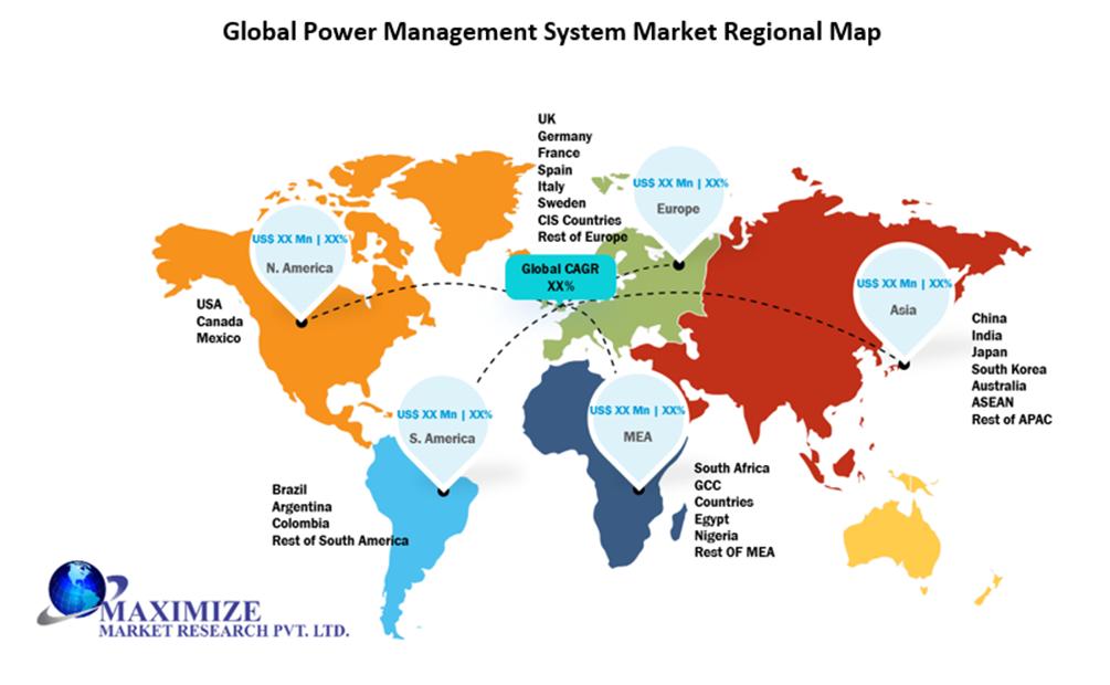 Global Power Management System Market Regional Insights