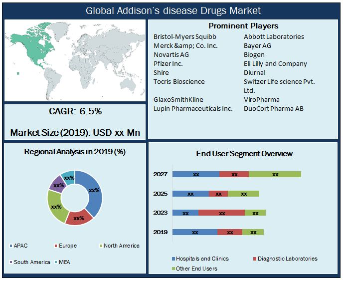 Global Addison's disease Drugs Market Snapshot