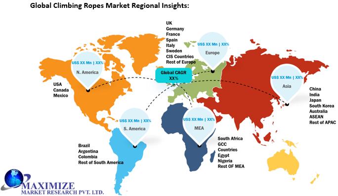 Global Climbing Ropes Market Regional Insights