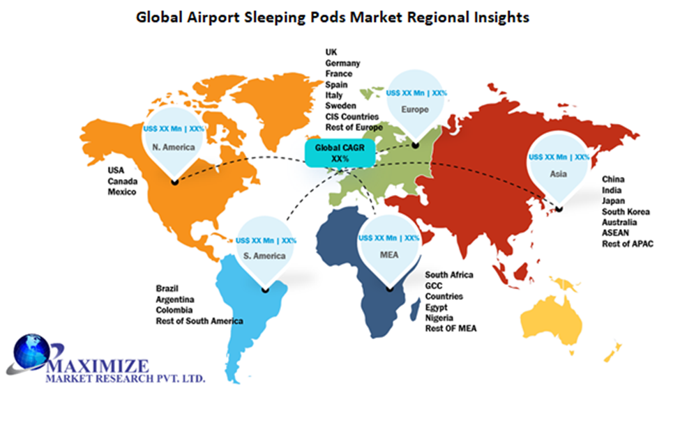 Global Airport Sleeping Pods Market Regional Insights