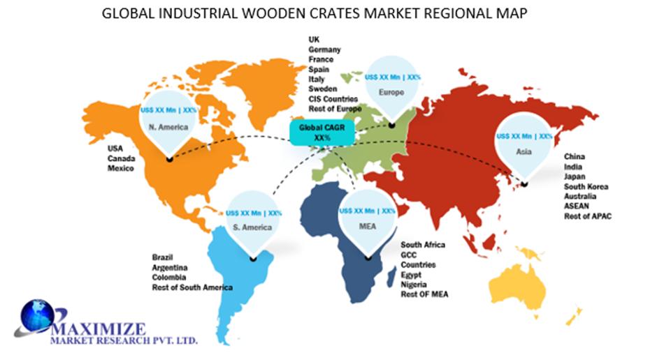 Global Industrial Wooden Crates Market Regional Insights