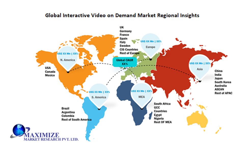 Global Interactive Video on Demand Market Regional Insights