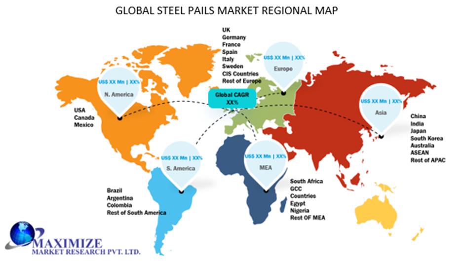 Global Steel Pails Market Regional Insights