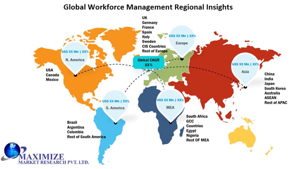 Global Workforce Management Market Regional Insights